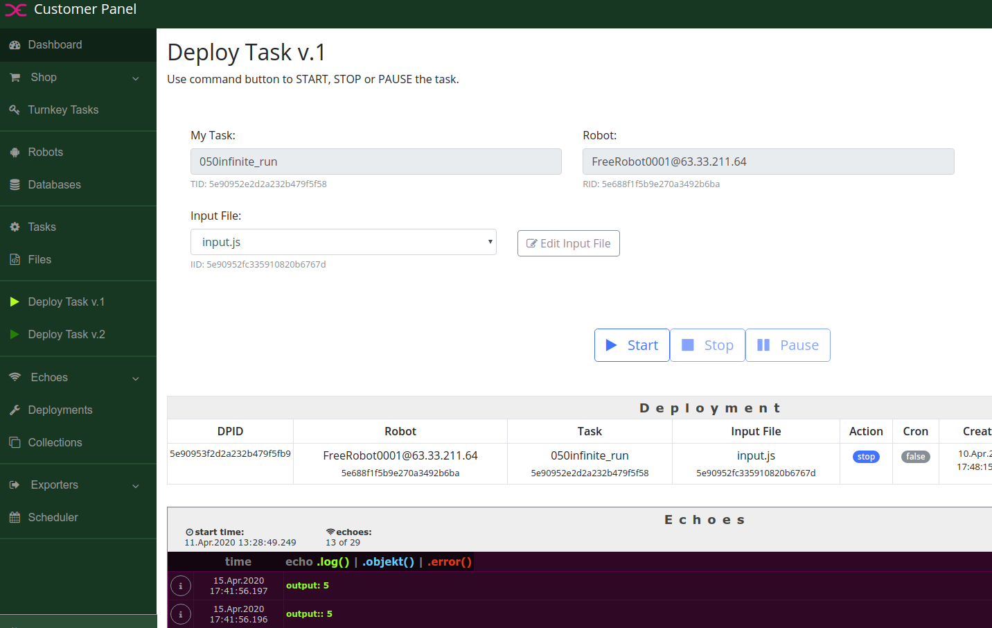 DEX8 Task Development - Deploy the Task
